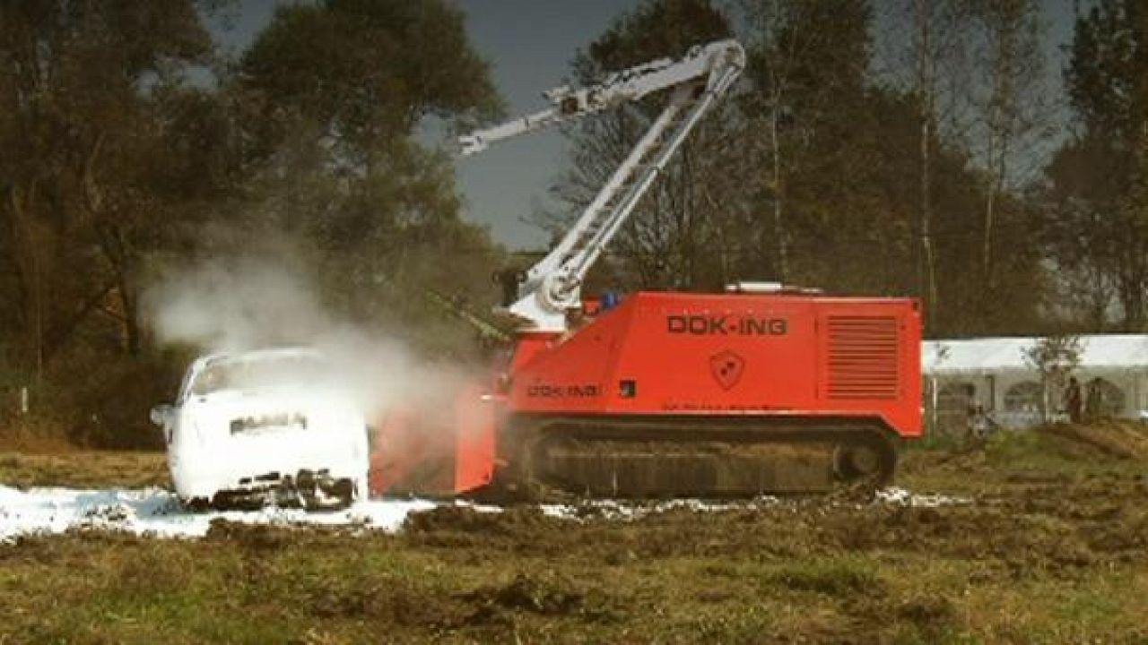 Un eccezionale robot pompiere
