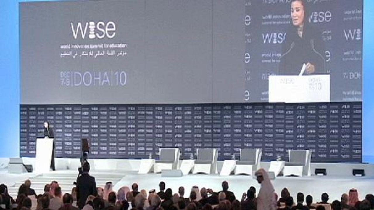 """پایان کار نشست جهانی نو آوری های آموزشی """"وایز"""" در دوحه"""