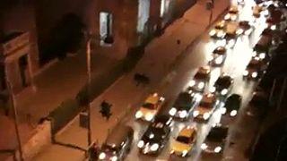 Car demonstration in Aleppo in Syria