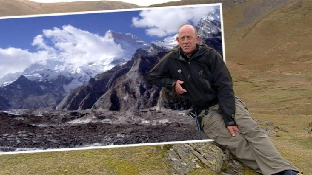 El alpinista Simon Yates, testigo del cambio climático