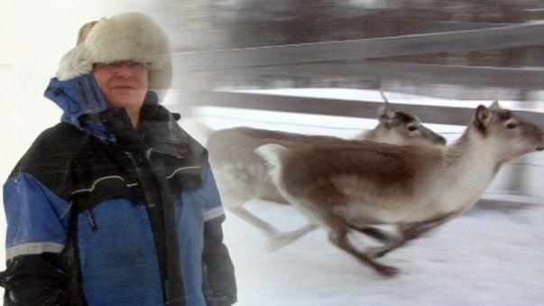 Olav Mathis Eira ist Rentier-Züchter in Nord-Norwegen