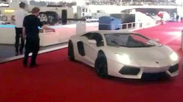A car in display at Geneva motor show 2011