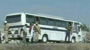 Four dead in twin Karachi bus blasts