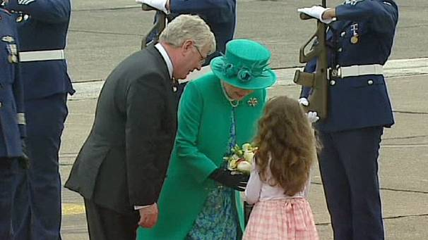 British Queen arrives in Dublin for historic visit