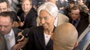 France's Lagarde throws hat into IMF ring