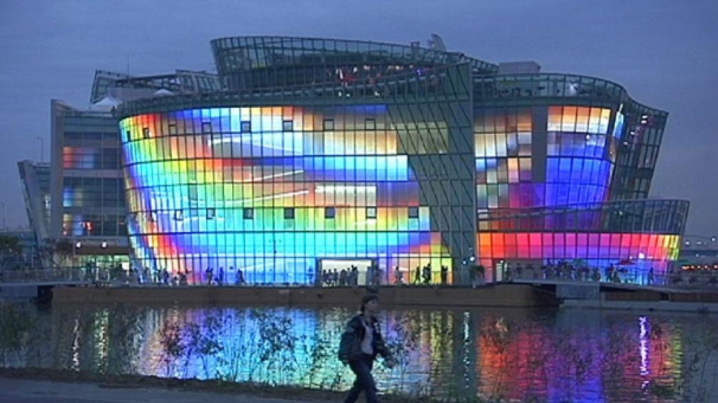 Konzert mit Wellengang: Seoul eröffnet weltgrößte schwimmende Insel