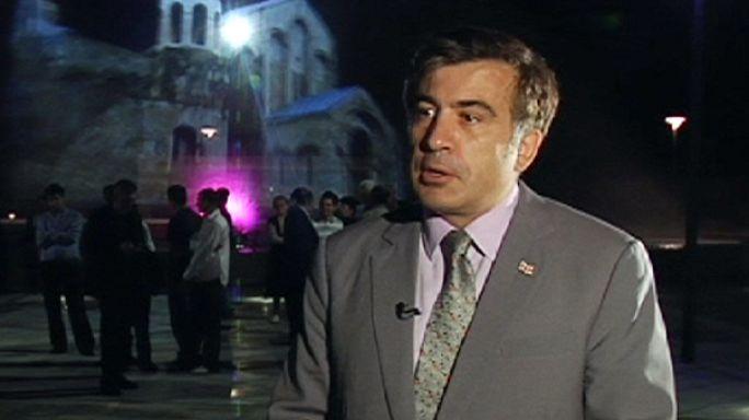 """الرئيس الجورجي ساكاشفيلي لليورونيوز :""""نسعى للعودة الى جذورنا الاوربية """""""