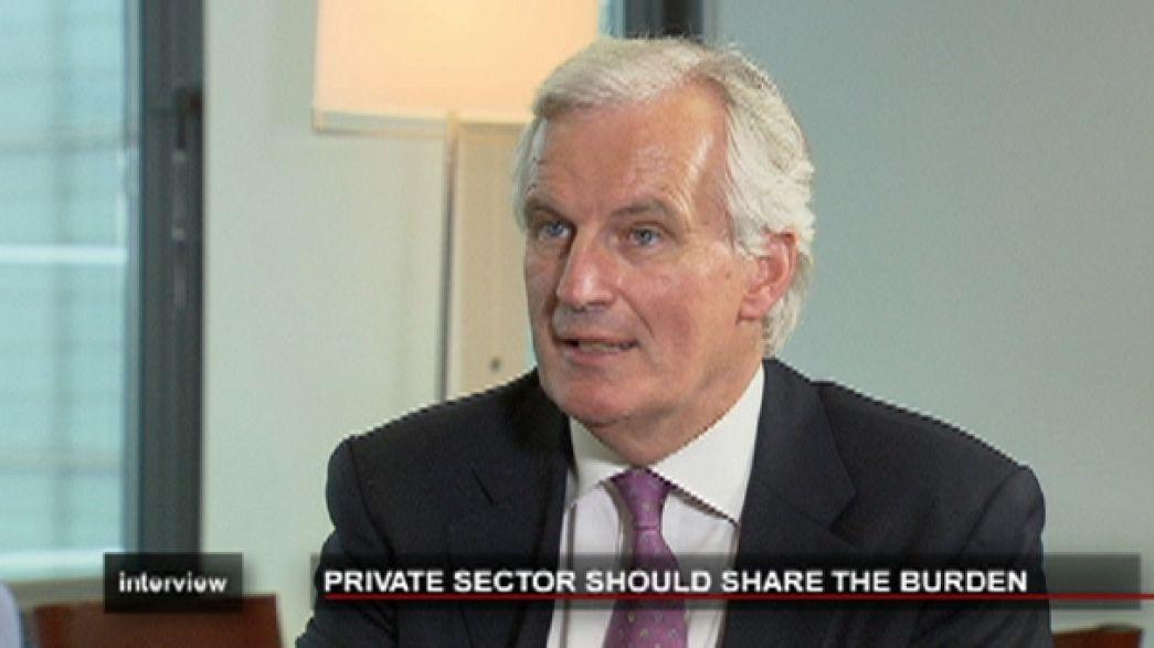 """Barnier: """"exigimos que el sector privado participe en el rescate de la deuda"""""""