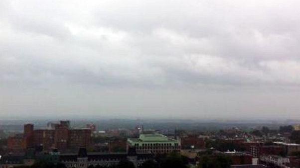 Hurricane Irene seen from Montreal