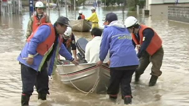 Typhoon brings misery to Japan