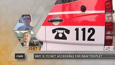 Why is 112 not accessible for deaf people?