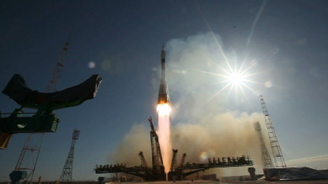 Historischer Flug der Sojus-Rakete