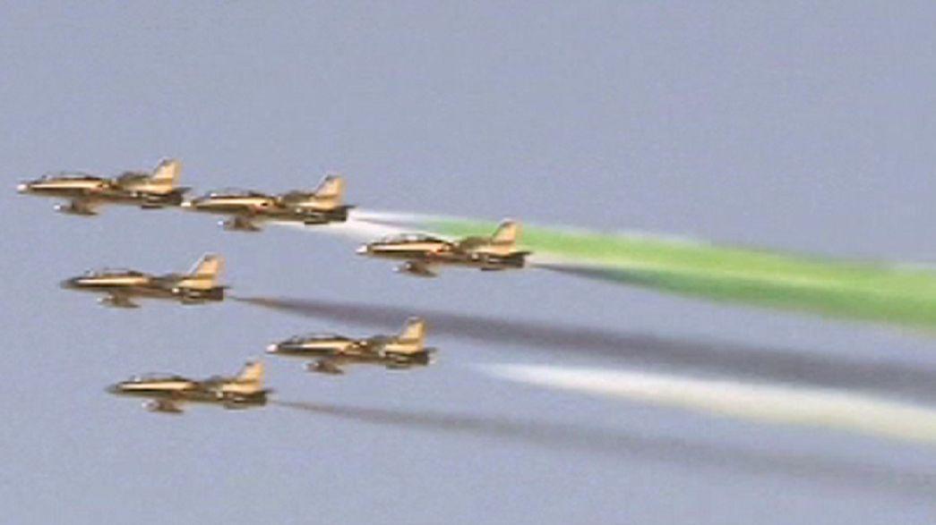 Aerobatics in the skies over Dubai