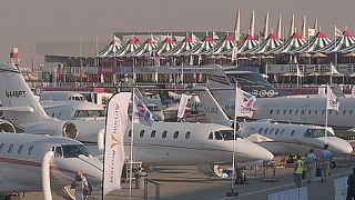 دوازدهمین نمایشگاه صنایع هوایی دوبی در حال برگزاری است