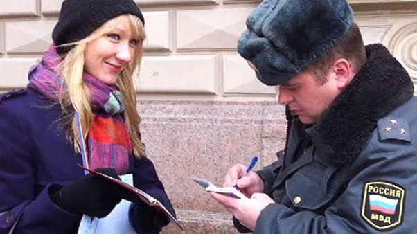 "Protestors denounce new russian law against ""gay propaganda"""