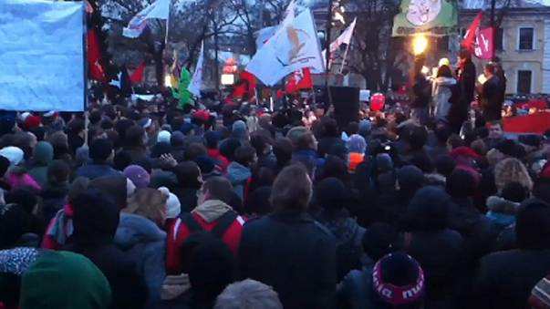 Protests against election fraud in St.Petersburg