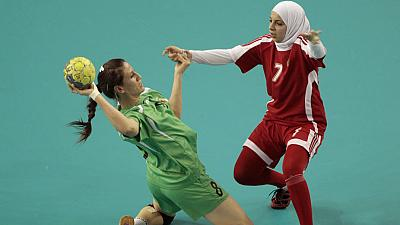 Women perform at the Arab Games