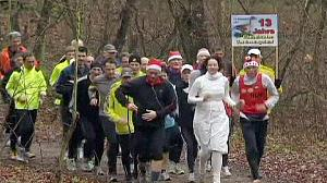 Germany's goose runners get rid of festive flab