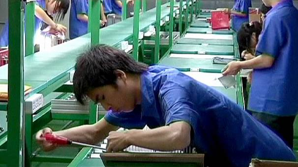 China's factory output falters