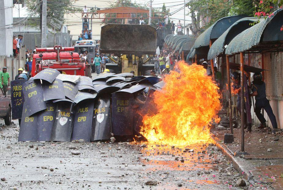 Filipinos protestieren gegen Slum-Räumung