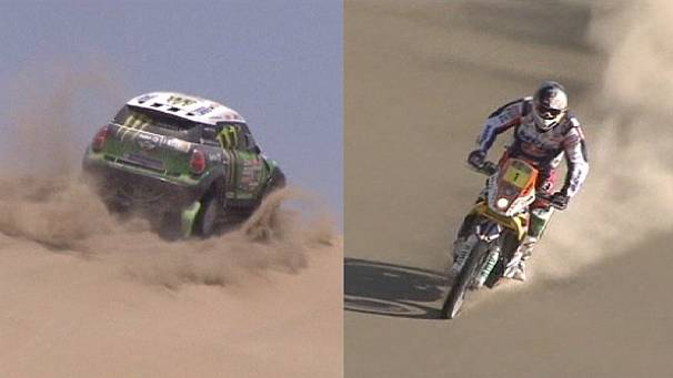 Two of the Dakar rally's crowns look likey to go to Frenchmen on Sunday