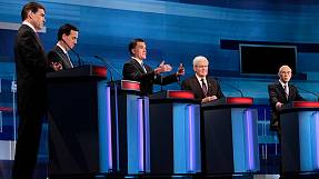 Republican Romney's record attacked in SC debate