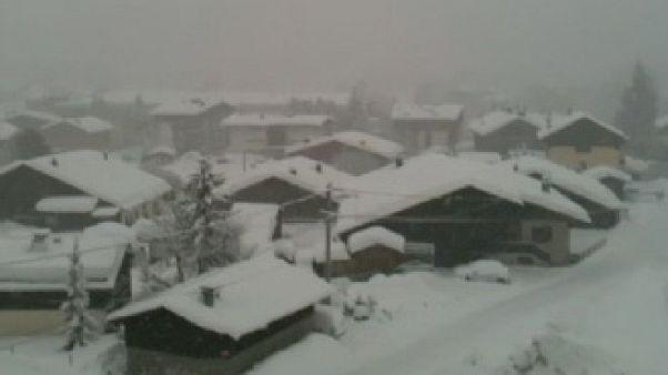 Heavy snowfalls in Megève