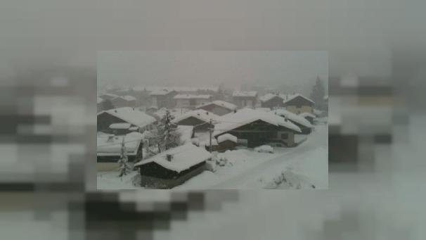 Heavy snowfalls in Megève