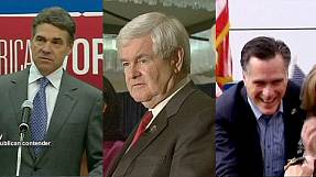 Gingrich gains on Romney as Perry bows out