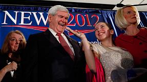 Gingrich wins South Carolina in Republican race