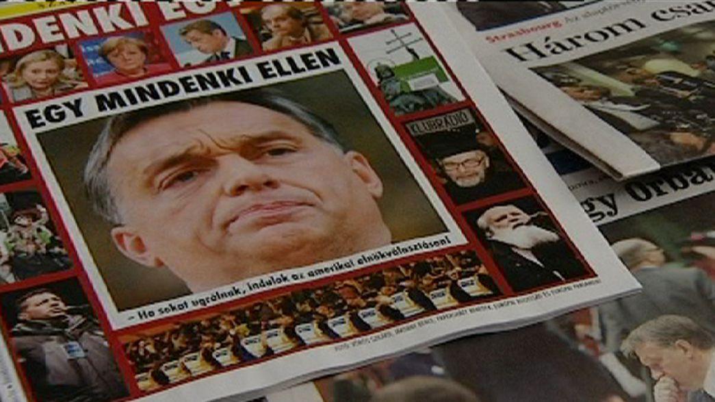 Offensiva Orban su media e giudici divide l'Ungheria