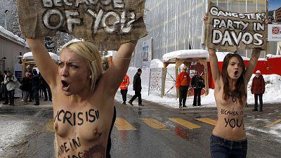 FEMEN protest in Davos