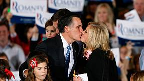Romney's kiss of victory