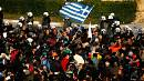 Tough talking in Greece as police brace for demos