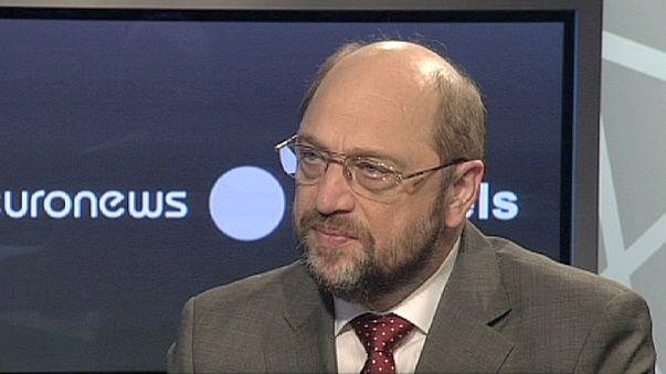 """""""L'euro proteggerà L'Europa a lungo"""" sostiene il presidente del Parlamento UE Martin Schultz"""