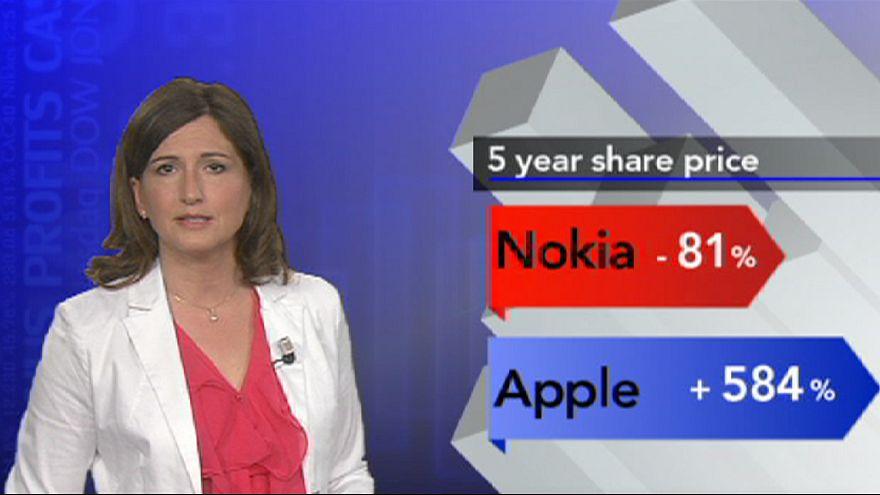 Акции Nokia вернулись в 90-е