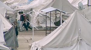 Renewed gunfire metres from Syrian refugee camps