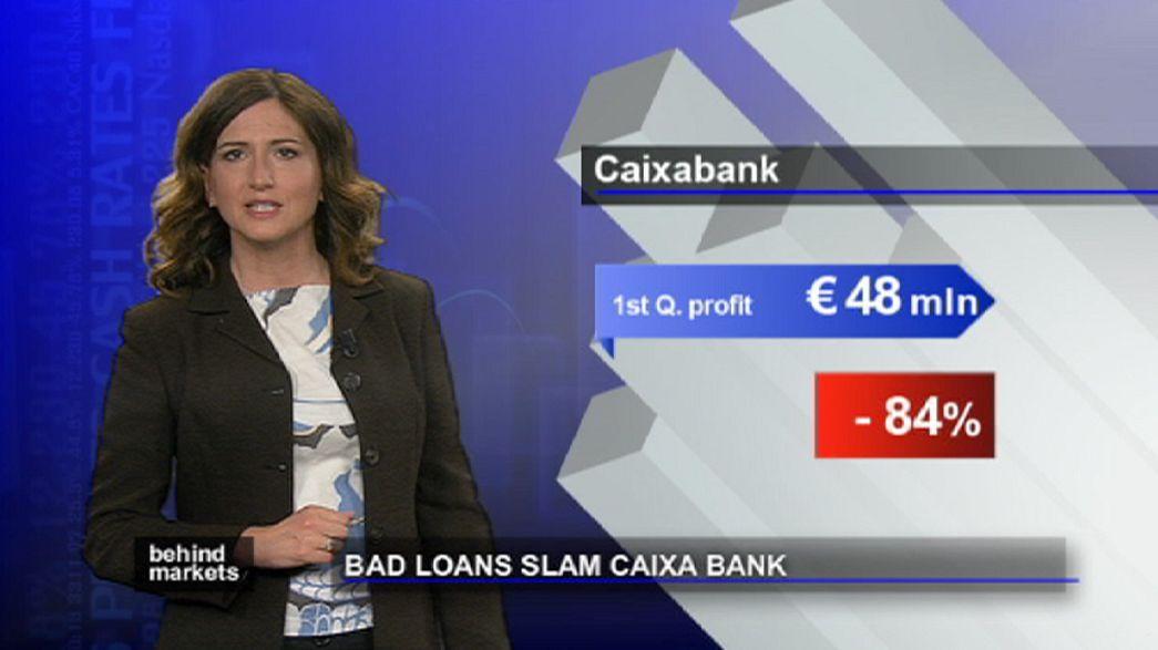 Crolla l'utile della Caixa: è l'effetto della crisi immobiliare