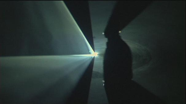 Anthony McCall's 'solid light' sculptures wow Berlin