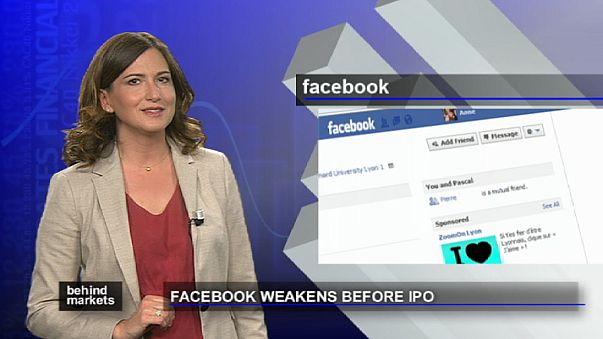 Facebook weaker before share sale