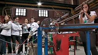 Glassblowing, construction and whistling