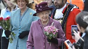 Britain's Queen greets fans in royal town