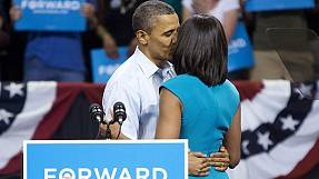 Obamas' romantic moment