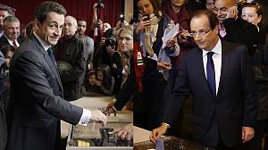 French presidential hopefuls cast their ballots