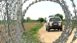 Giechenlands Grenzzaun gegen illegale Grenzgänger
