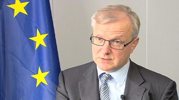"""Rehn: """"La Grecia restera' nell'euro"""""""