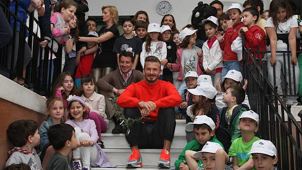Beckham back at school