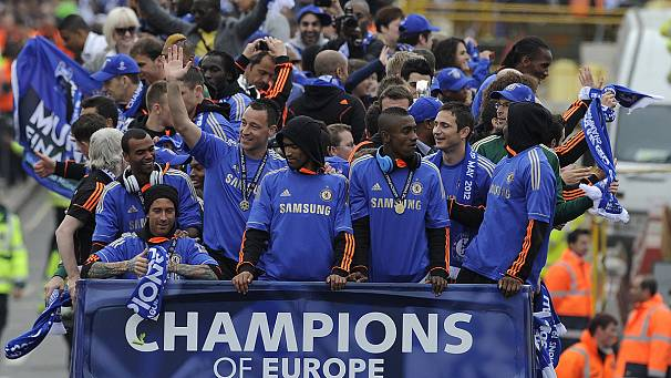 Chelsea parade Champions League trophy through London
