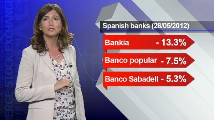 هبوط أسعار أسهم المصارف الإسبانية
