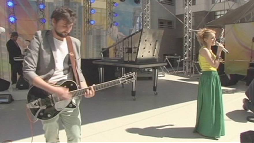 Music setting the tempo at Kiev's fan-zone
